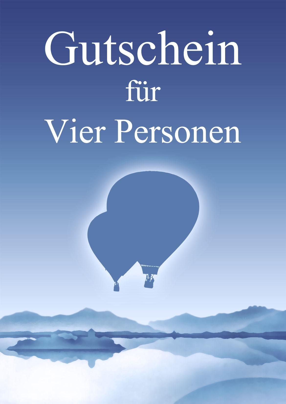 Ballonfahrt Gutschein für vier Personen - Chiemseeballooning