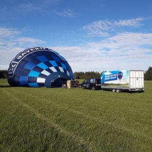 ballon aufbauen